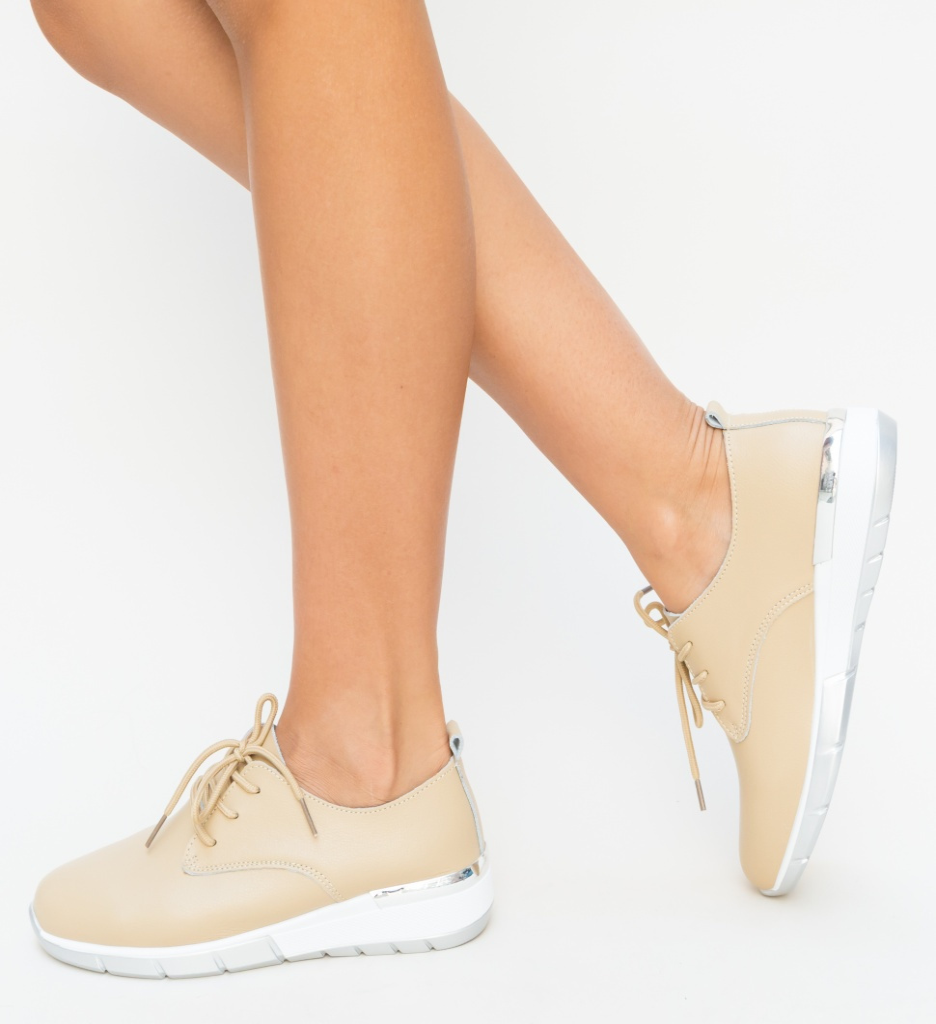 Pantofi Casual Barend Bej imagine