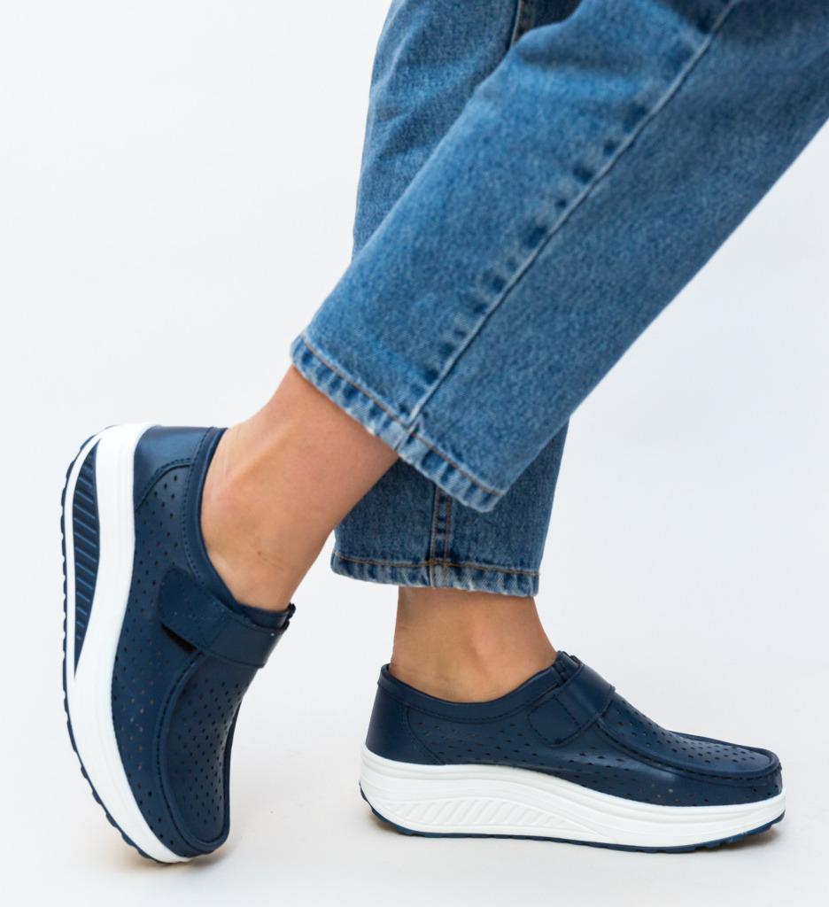 Pantofi Casual Bozta Bleumarin