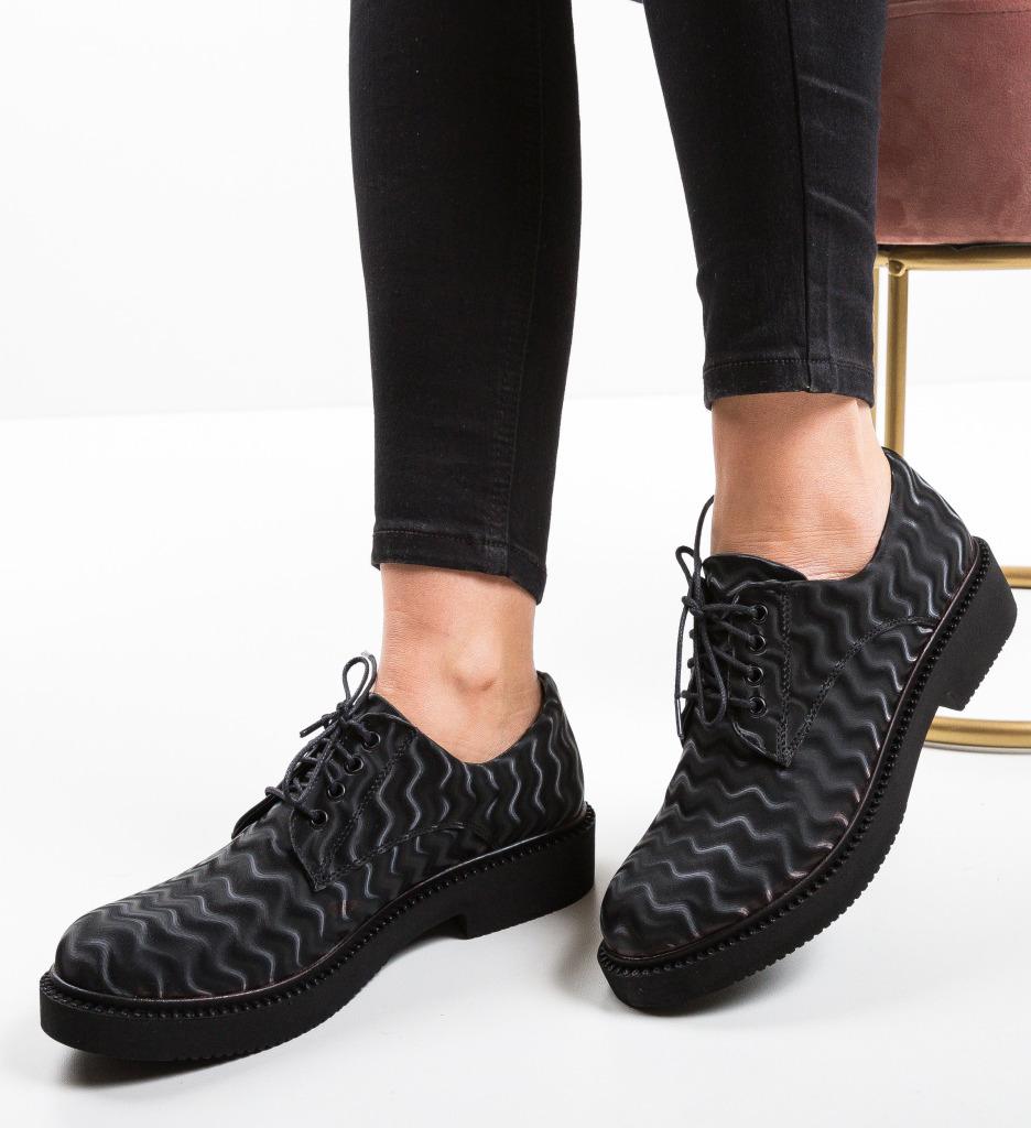 Pantofi Casual Cats Negri