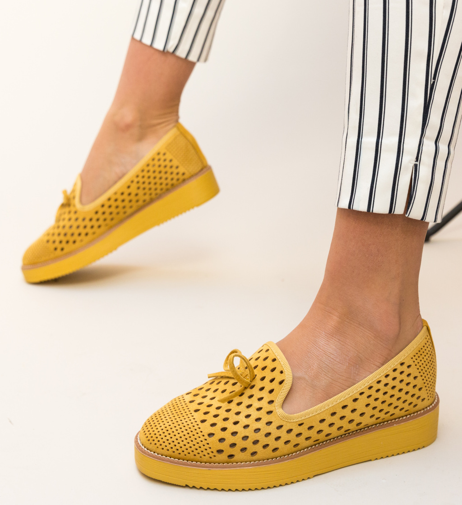 Pantofi Casual Clasim Galbeni