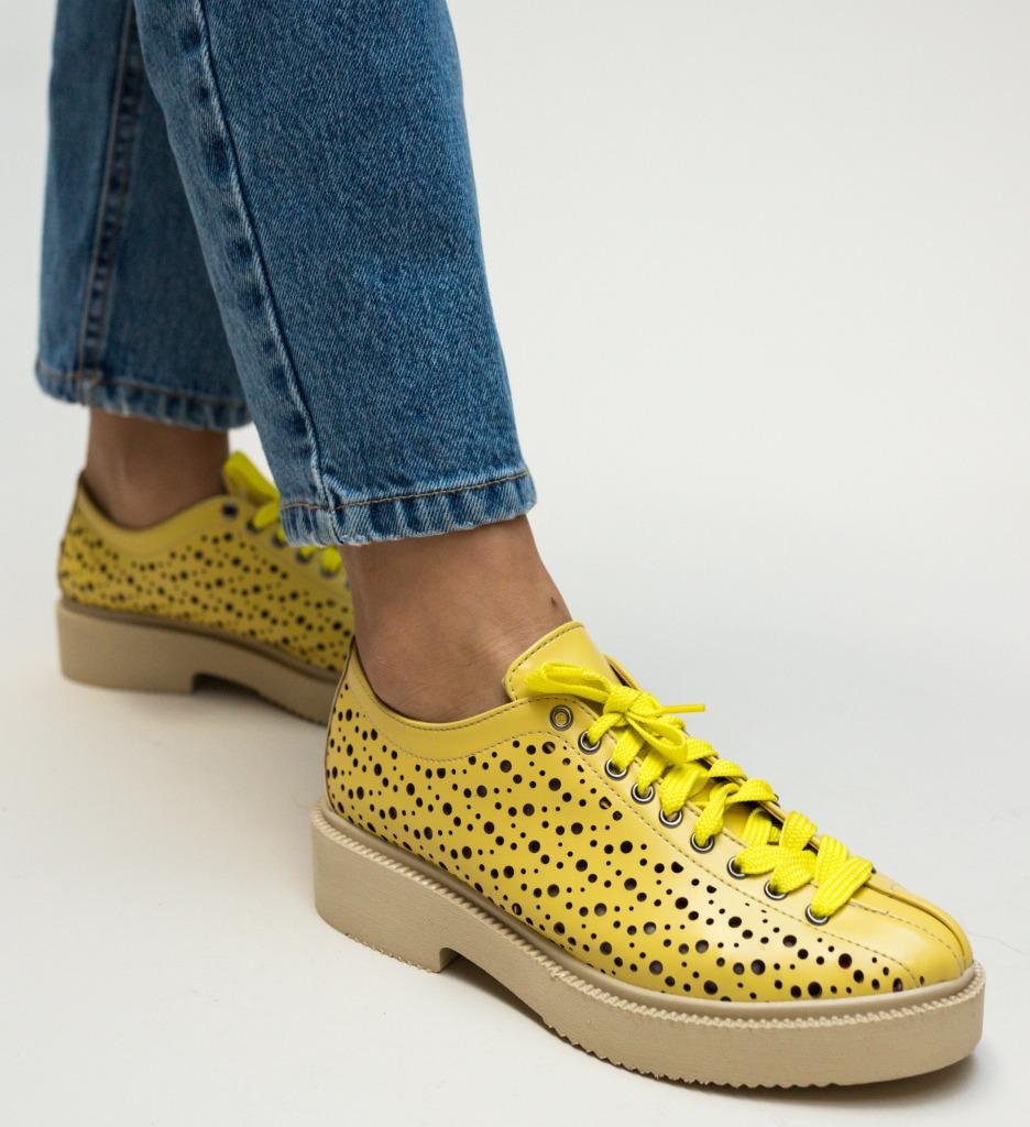 Pantofi Casual Grecos Galbeni