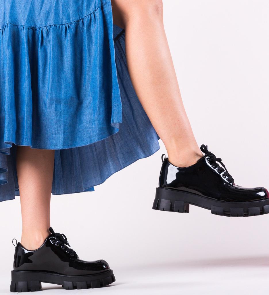 Pantofi Casual Indigal Negri 2 imagine