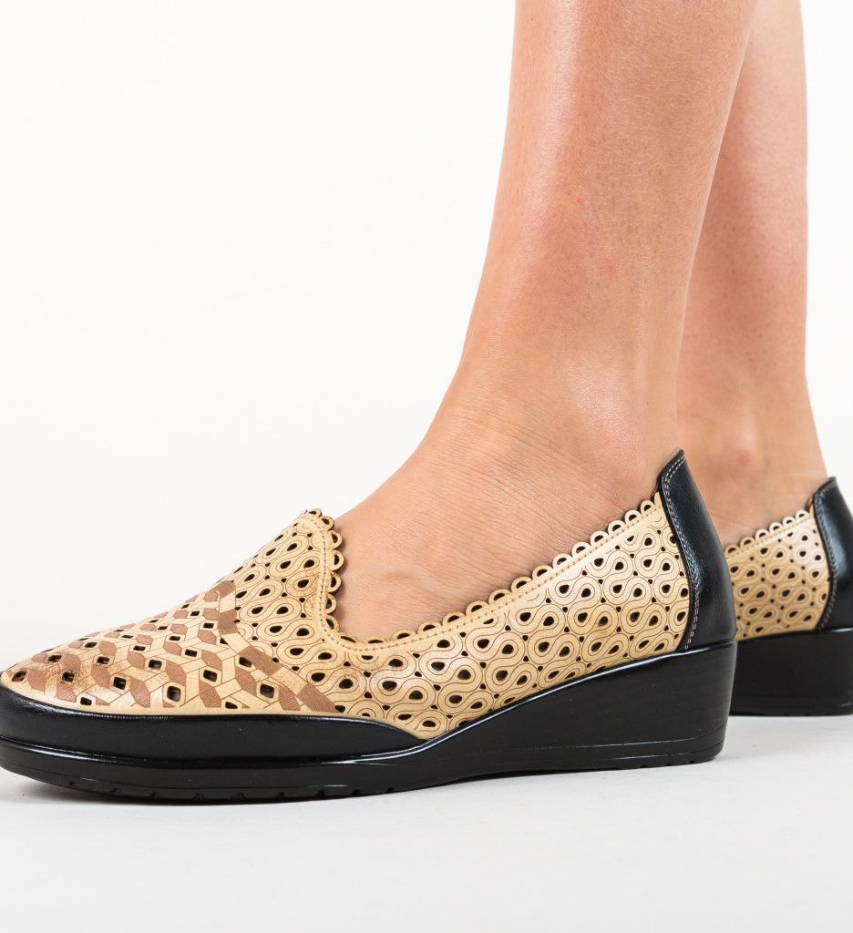 Pantofi Casual Kiloza Camel