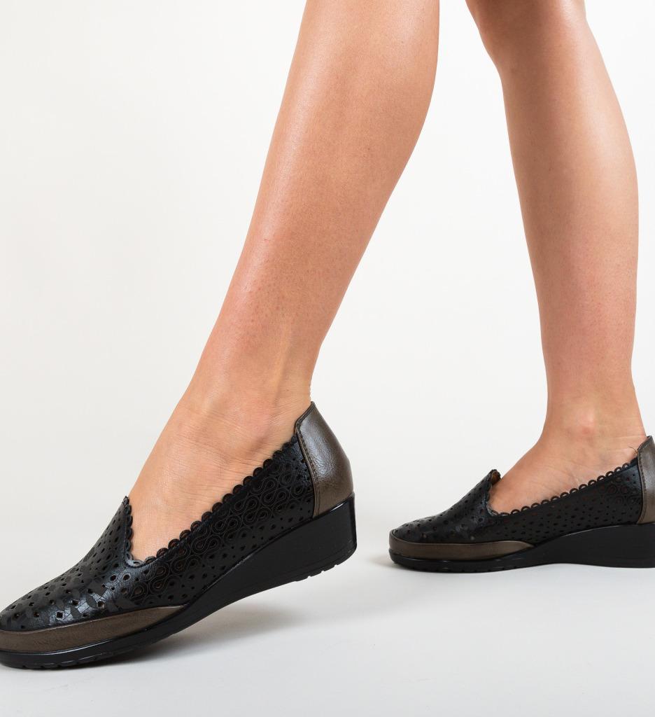 Pantofi Casual Kiloza Negri imagine 2021