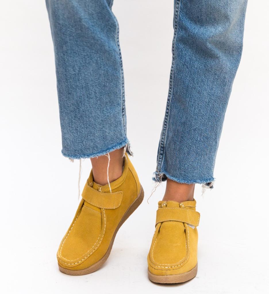 Pantofi Casual Melta Galbeni imagine 2021