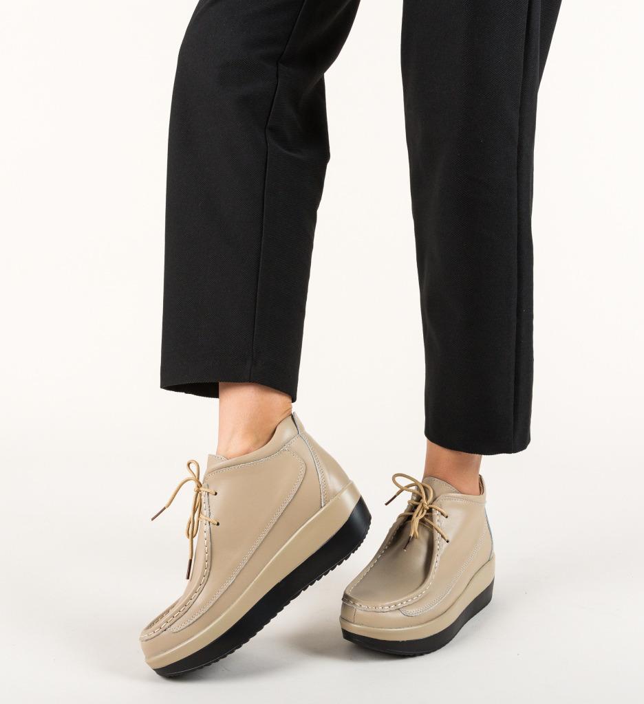 Pantofi Casual Nash Bej