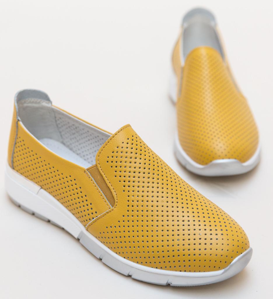 Pantofi Casual Pufine Galbeni imagine