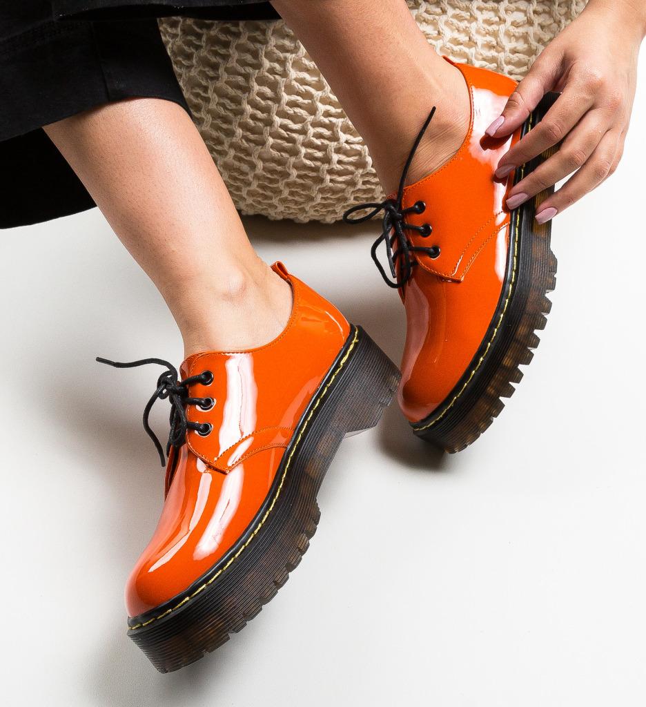 Pantofi Casual Riley Portocalii
