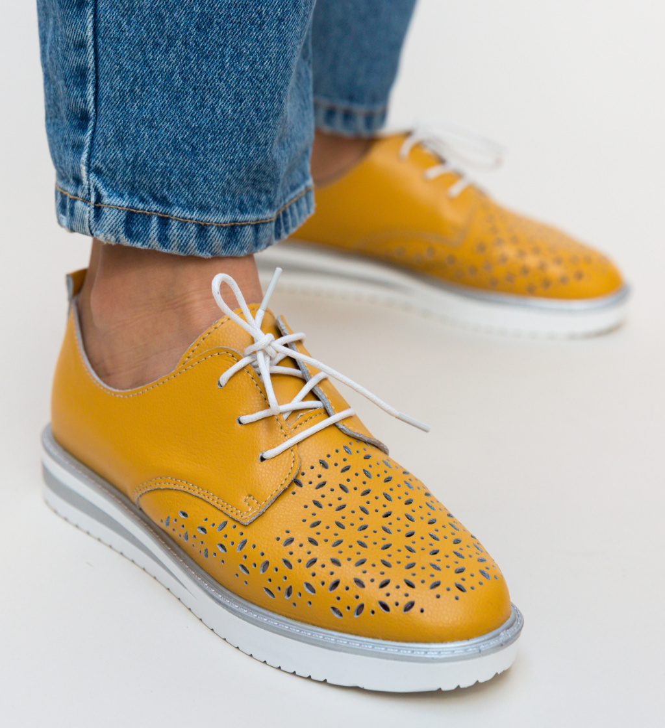 Pantofi Casual Rofrel Galbeni