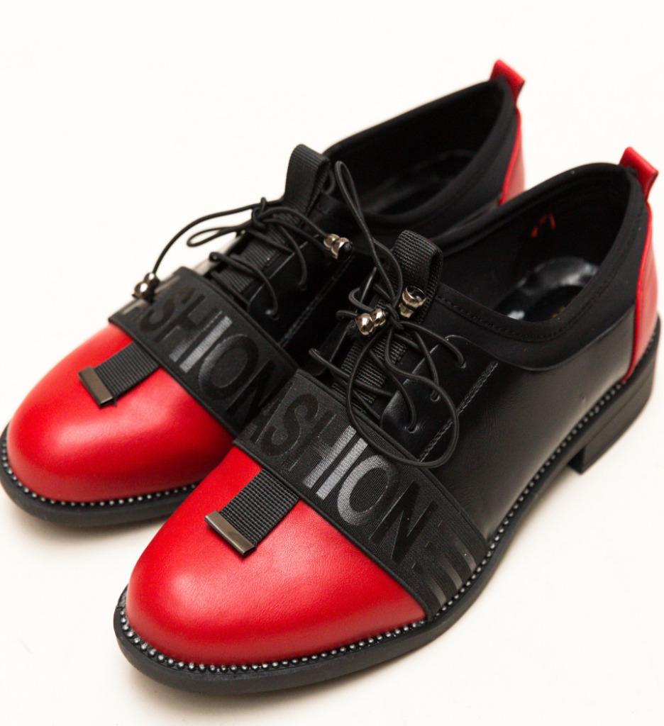 Pantofi Casual Shea Rosii