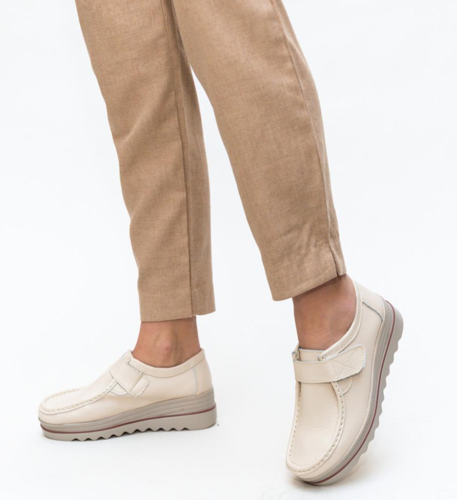 Pantofi Casual Vinay Bej imagine