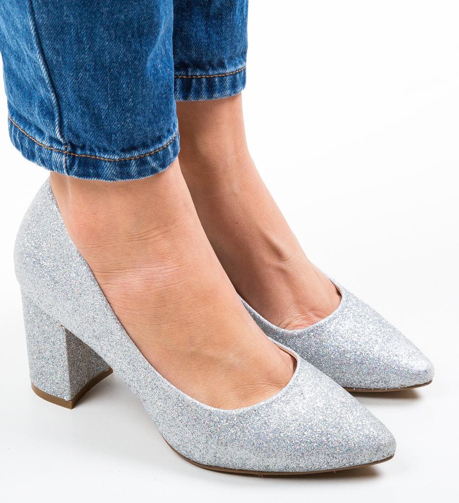 Pantofi Cilio Argintii