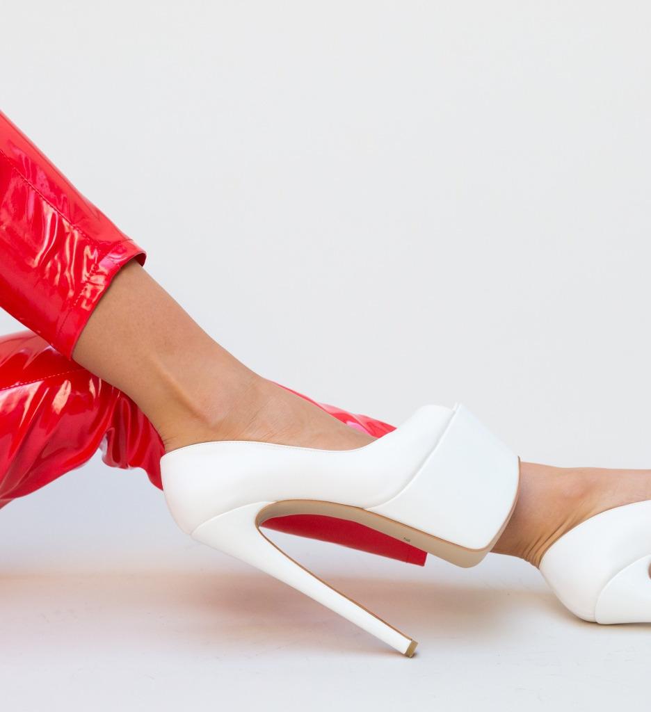 Pantofi Miele Albi