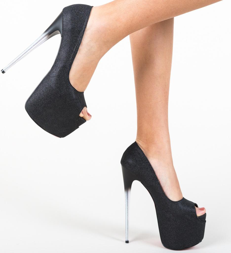 Pantofi Munteania Negri