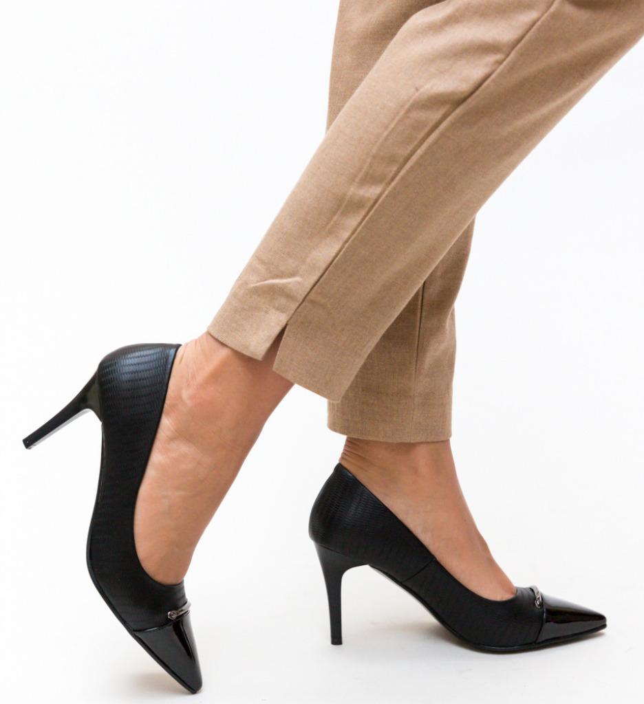 Pantofi Mylo Negri