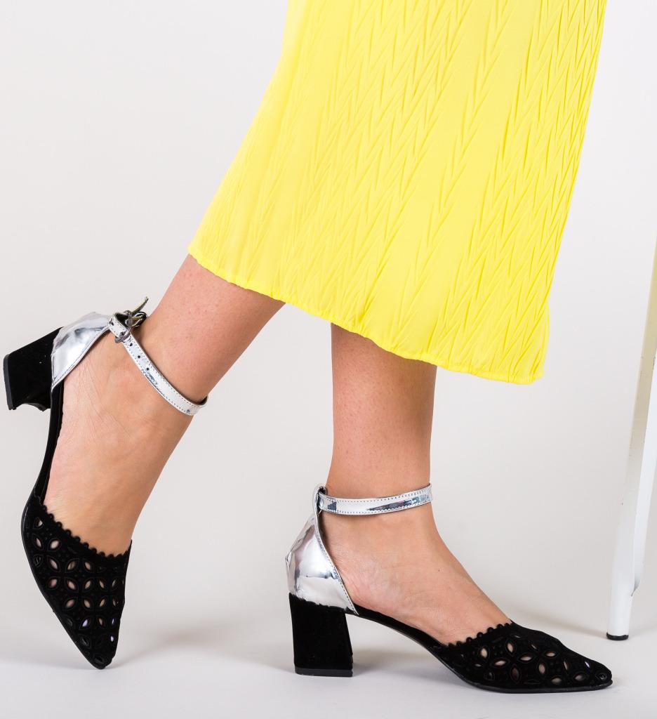 Pantofi Nela Argintii