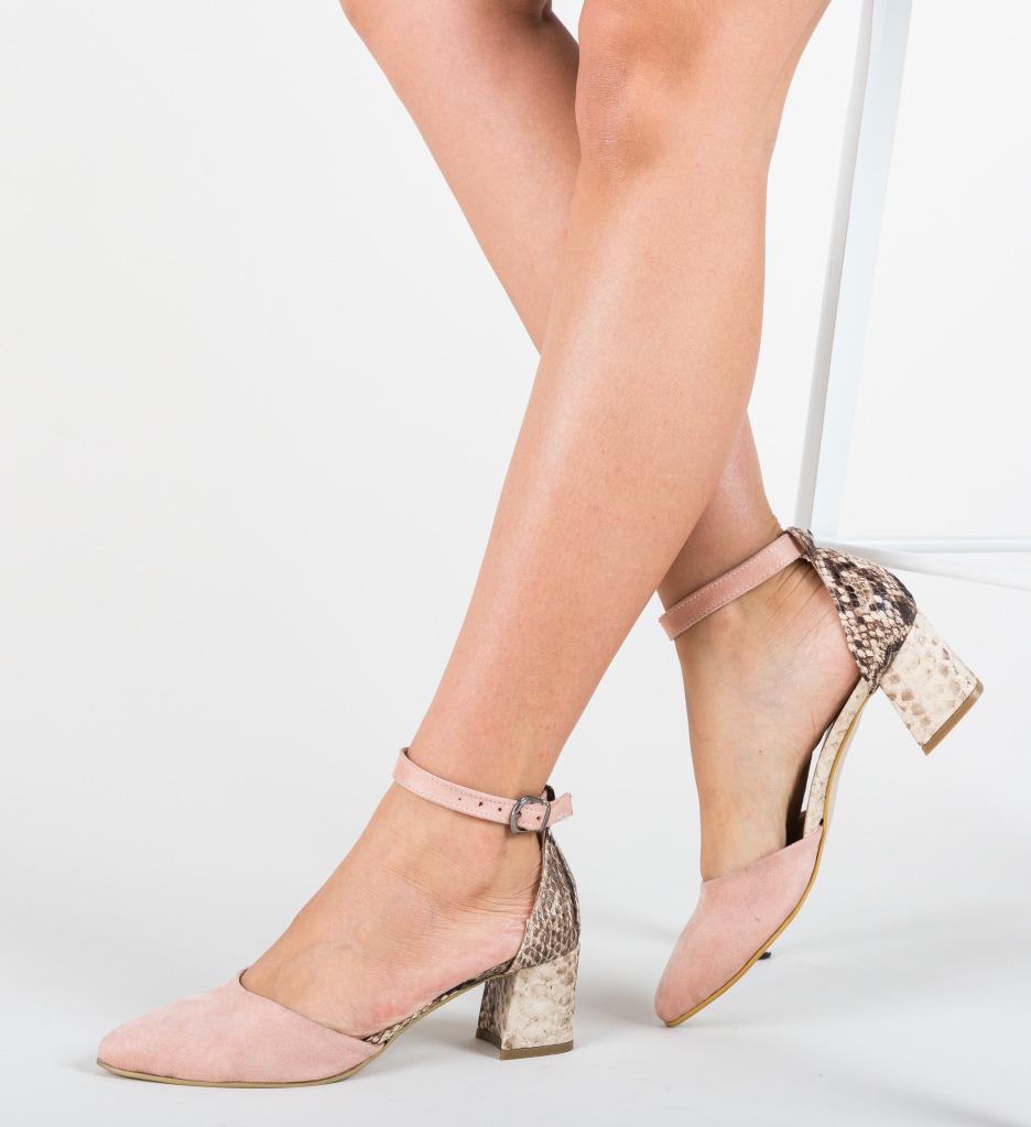 Pantofi Nela Roz 2