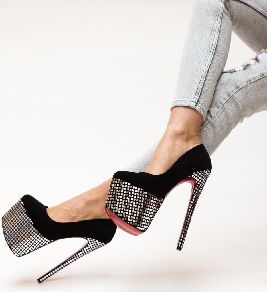Pantofi Ranver Argintii