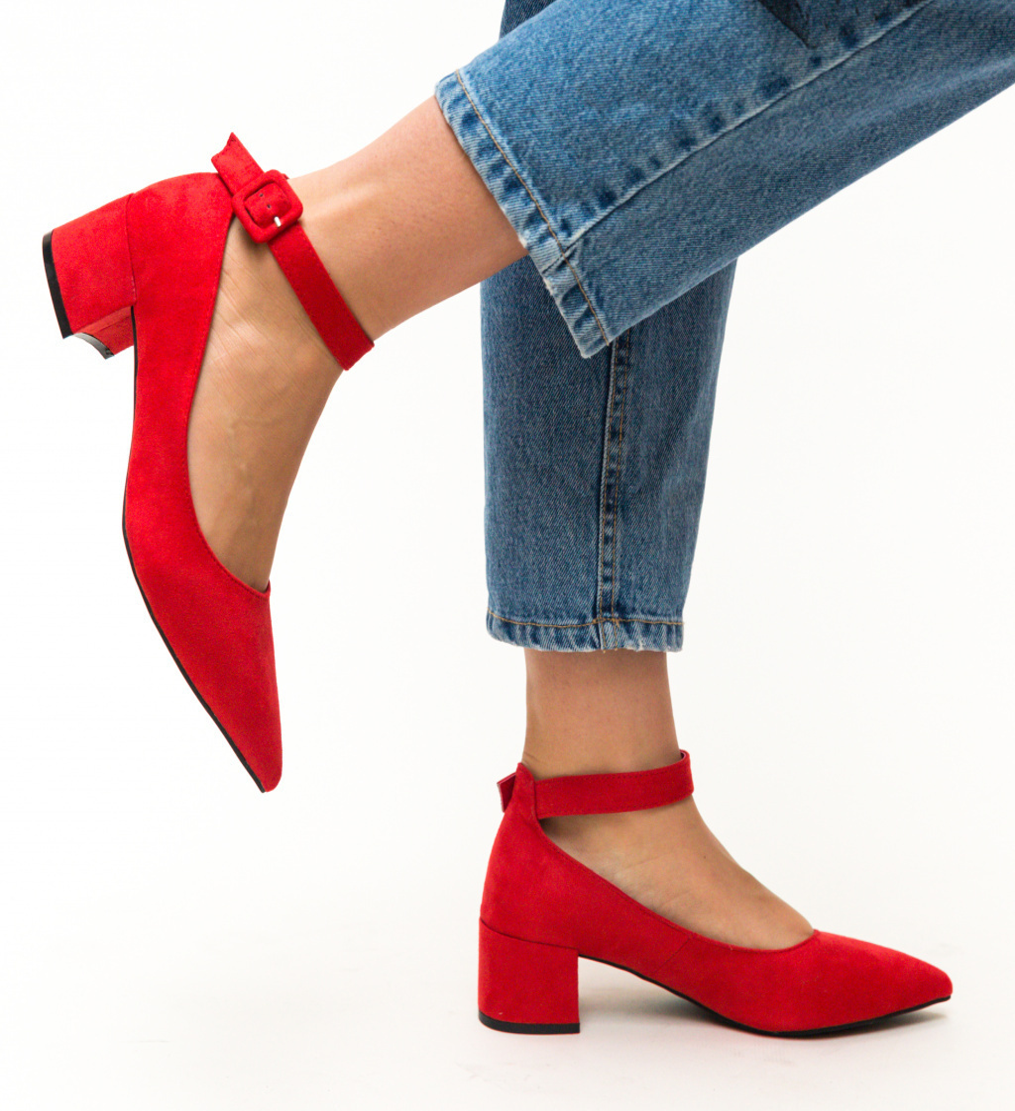 Pantofi Santos Rosii