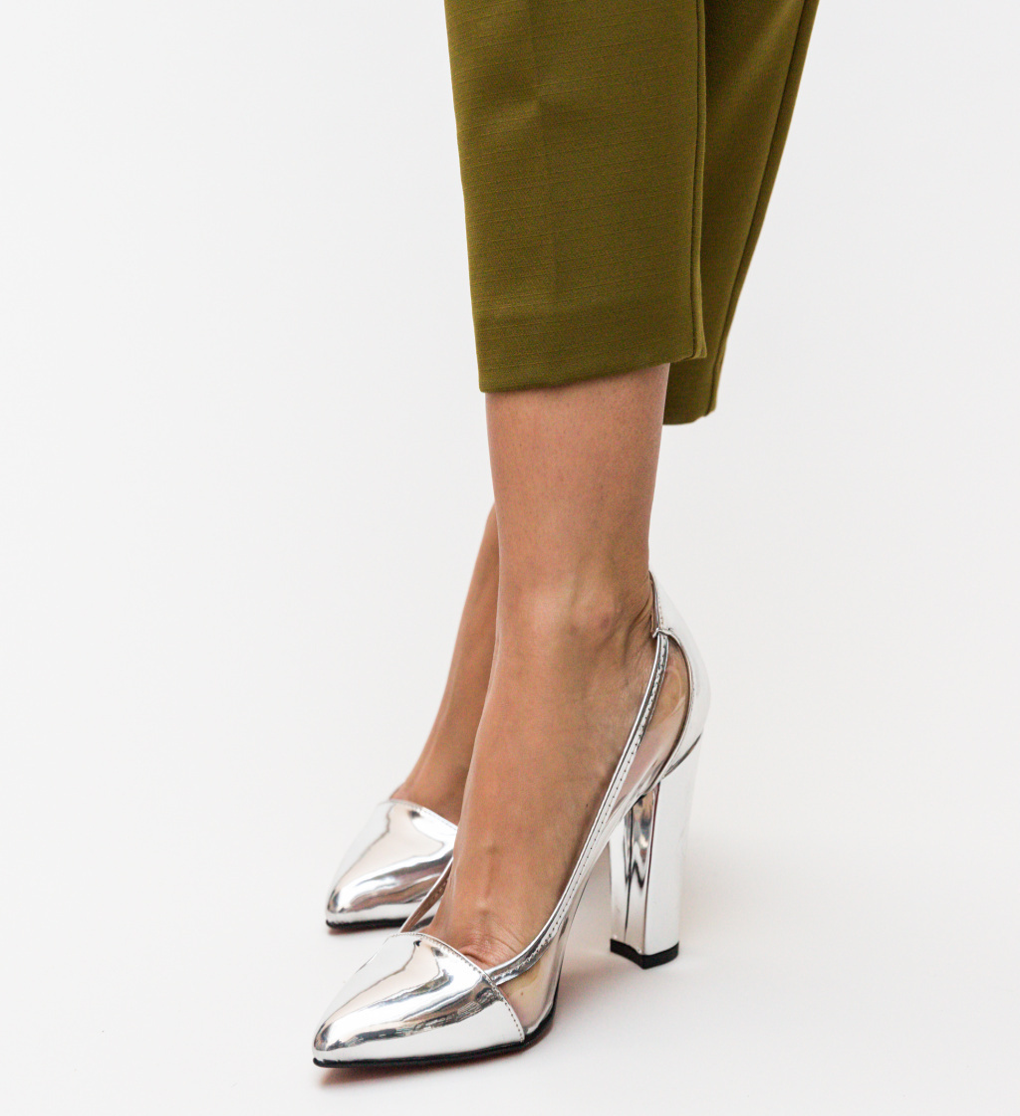 Pantofi Seneha Arginti imagine