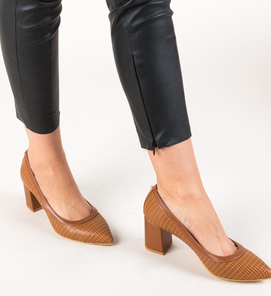 Pantofi Spic Camel
