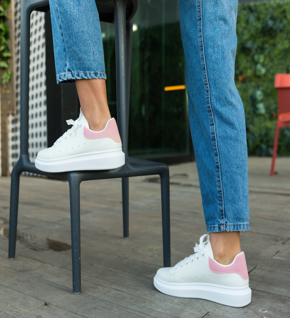 Pantofi Sport Vernona Albi-Roz