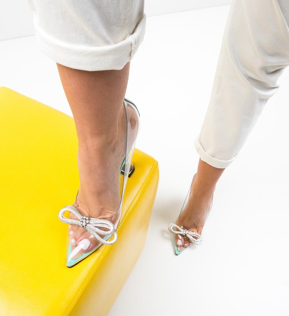 Pantofi Tacop Turcoaz