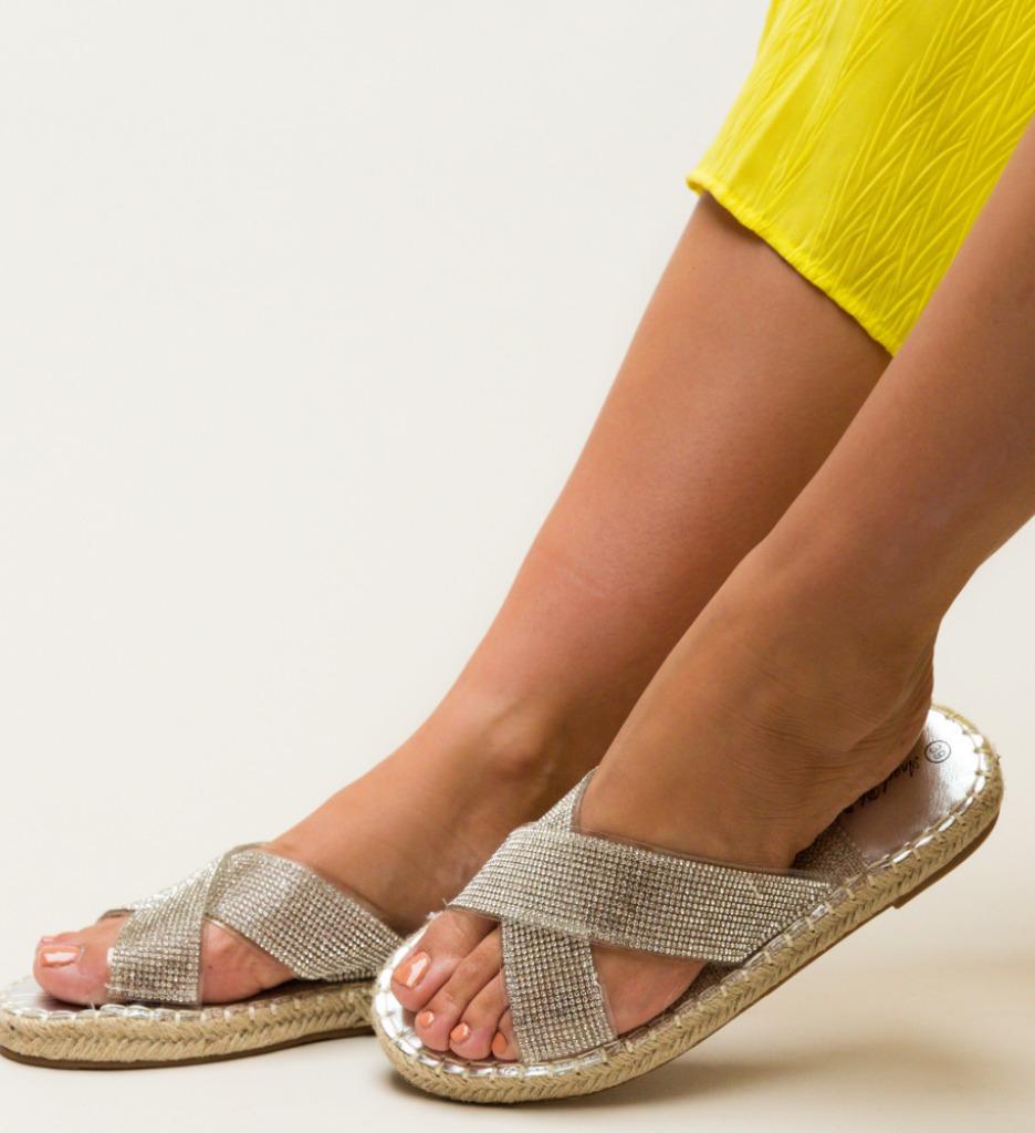 Papuci Baxter Argintii