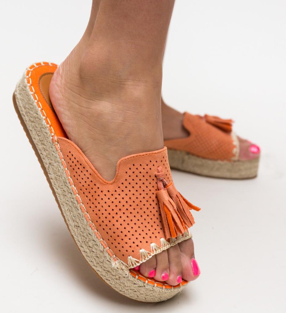 Papuci Cerza Portocalii