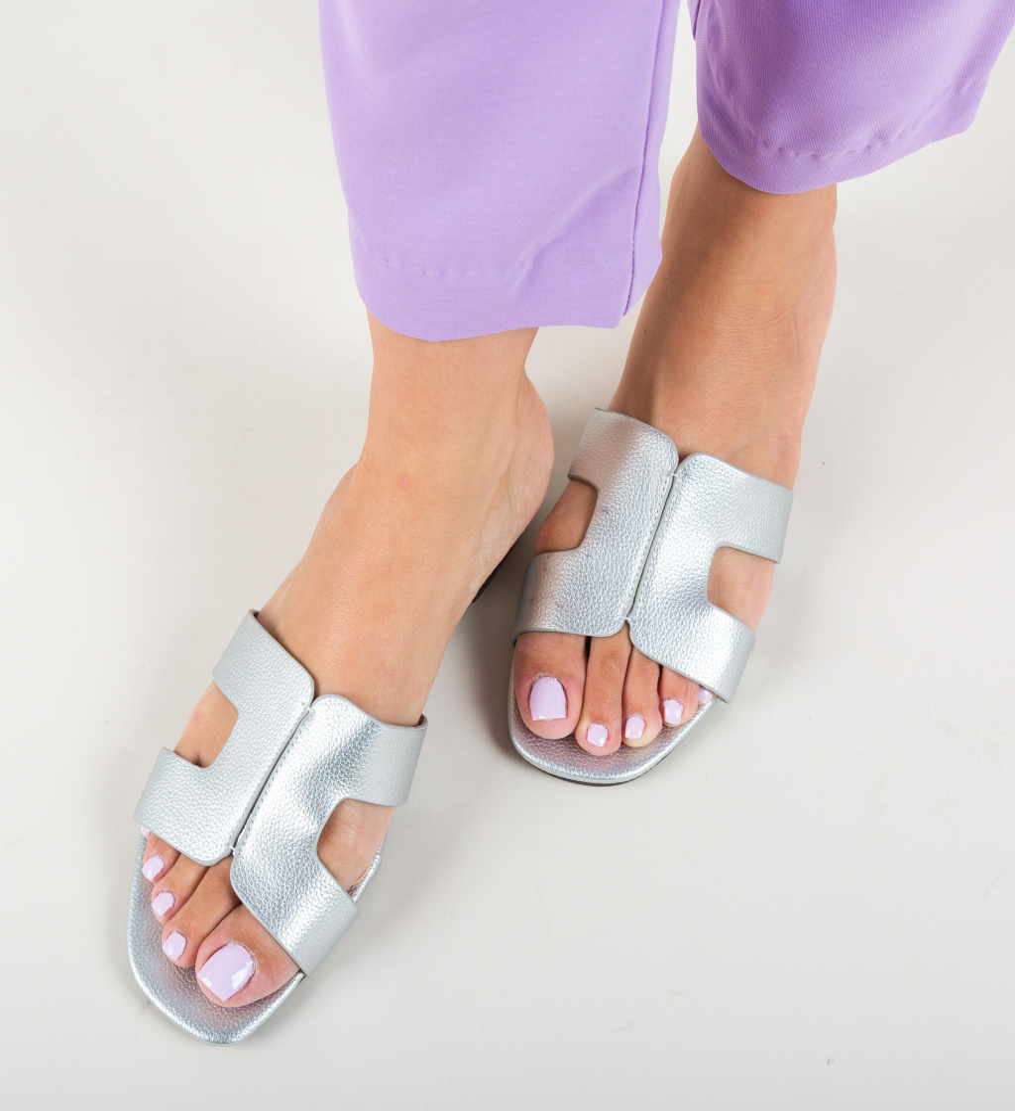 Papuci Lihan Argintii