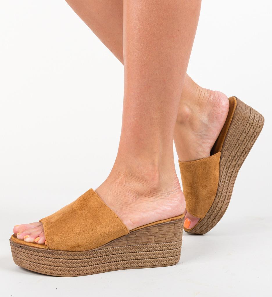 Papuci Nikki Camel
