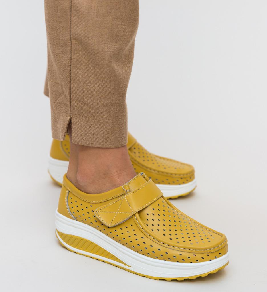 Pantofi Casual Bozta Galbeni