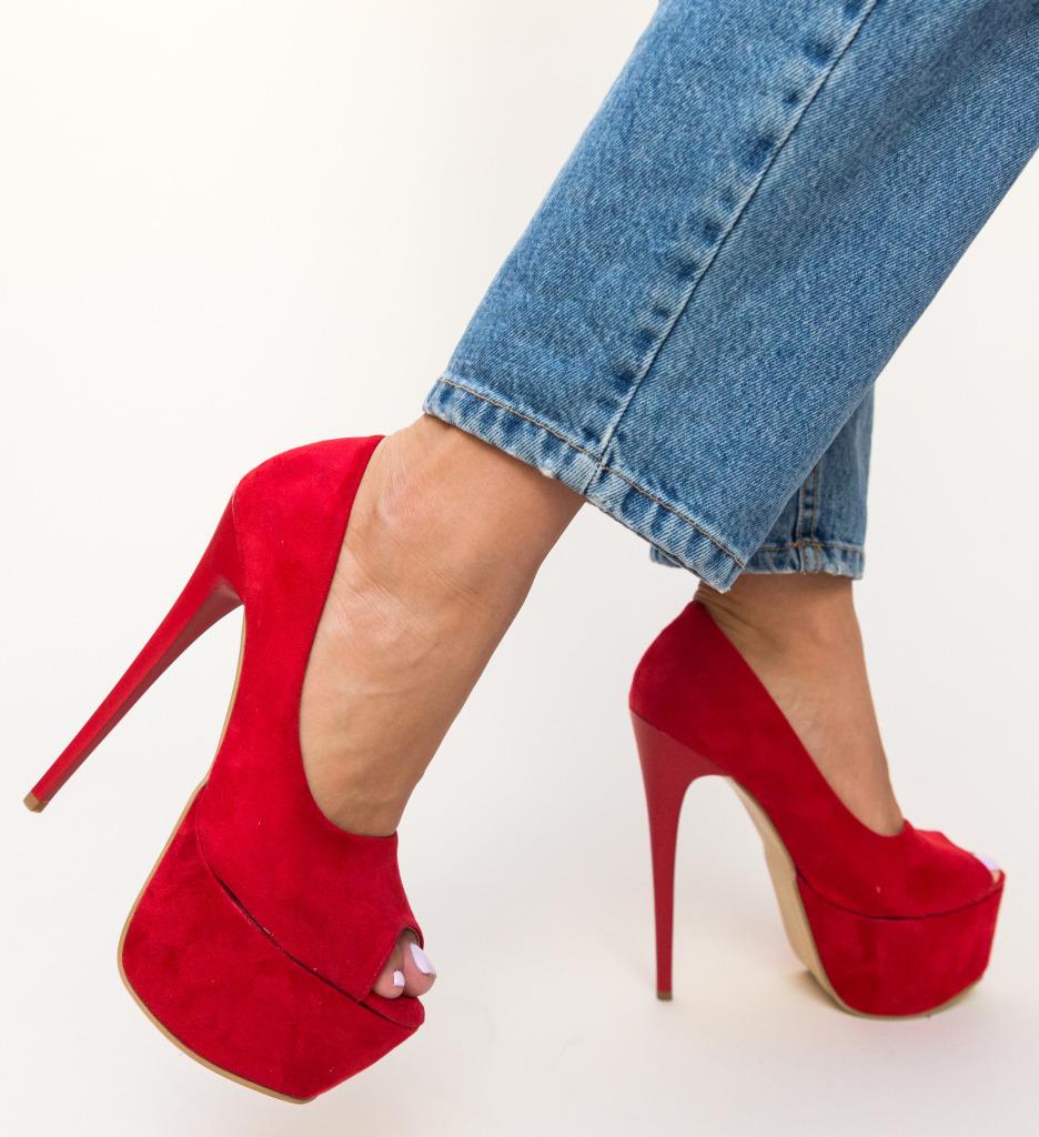 Pantofi Brady Rosii