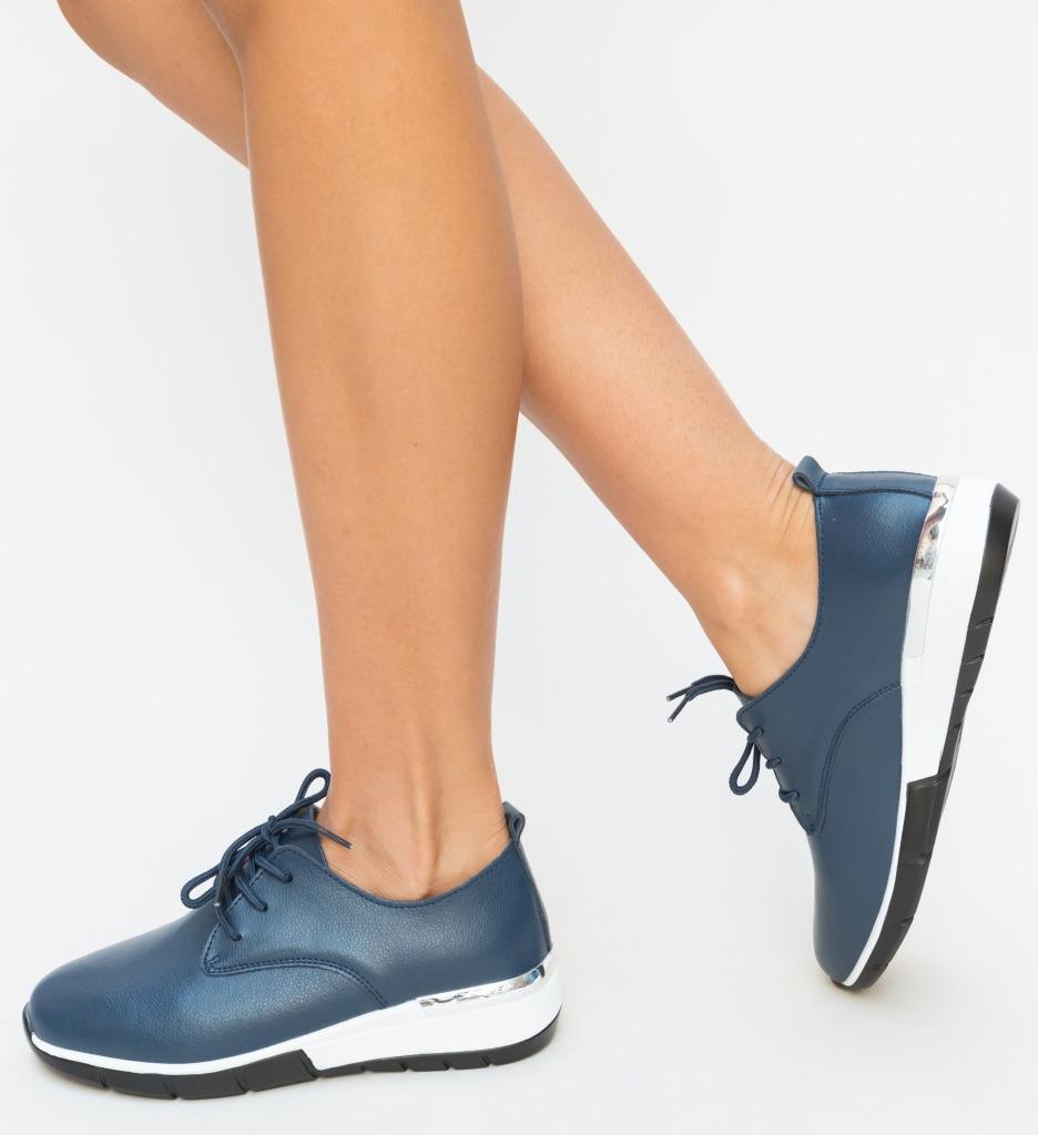 Pantofi Casual Barend Bleumarin imagine