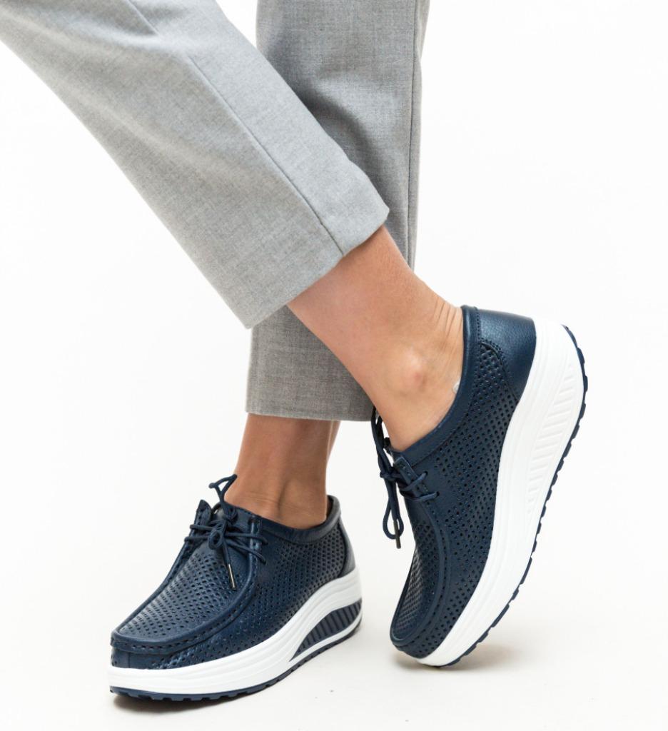 Pantofi Casual Blanken Bleumarin