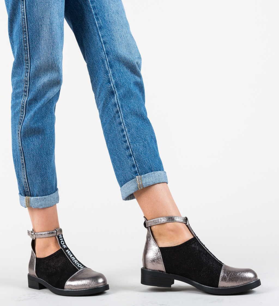 Pantofi Casual Cecily Argintii