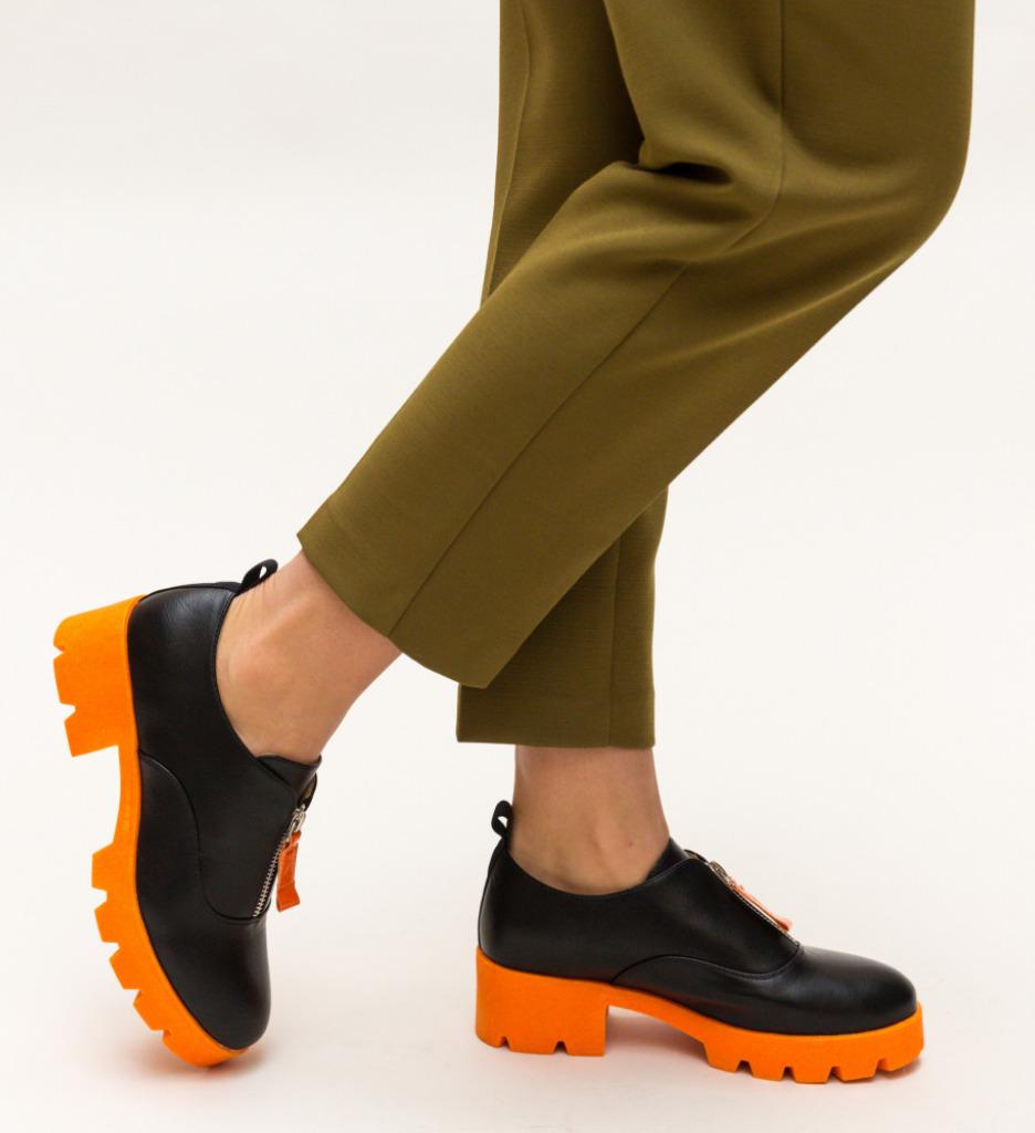 Pantofi Casual Corola Portocali