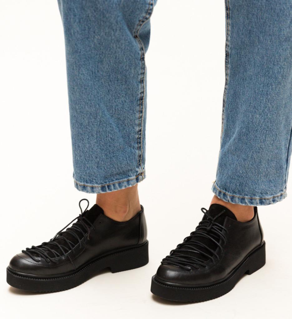 Pantofi Casual Deri Negri