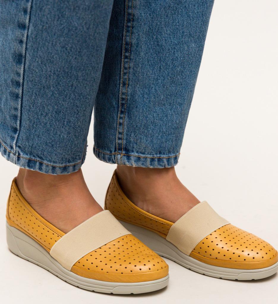 Pantofi Casual Foliande Galbeni