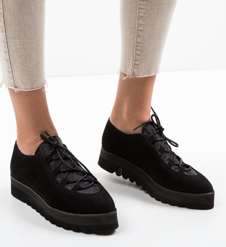 Pantofi Casual Halls Negri 2