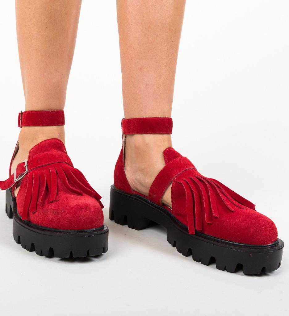 Pantofi Casual Kajah Rosii