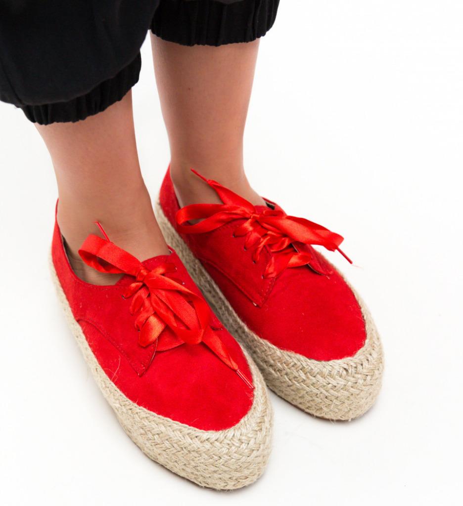 Pantofi Casual Kiran Rosii imagine