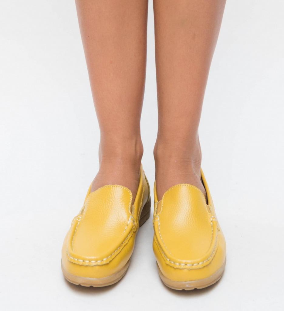 Pantofi Casual Kives Galbeni