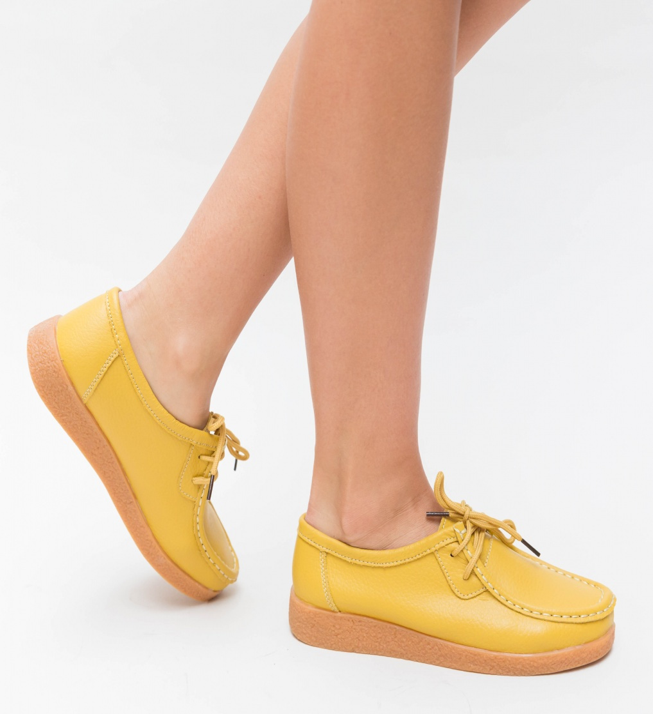 Pantofi Casual Niko Galbeni