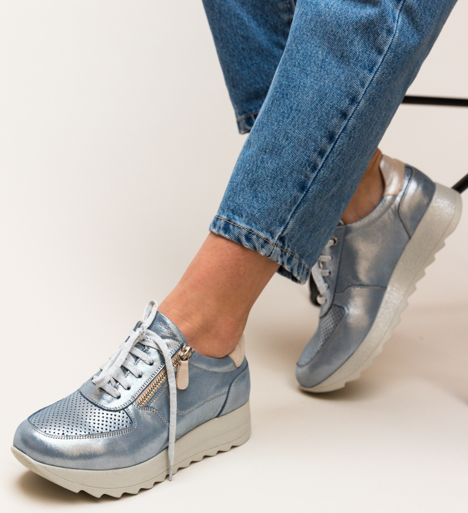 Pantofi Casual Poxiter Albastri