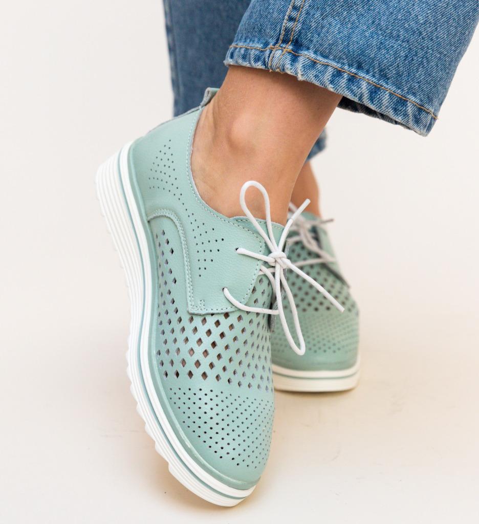 Pantofi Casual Tone Turcoaz