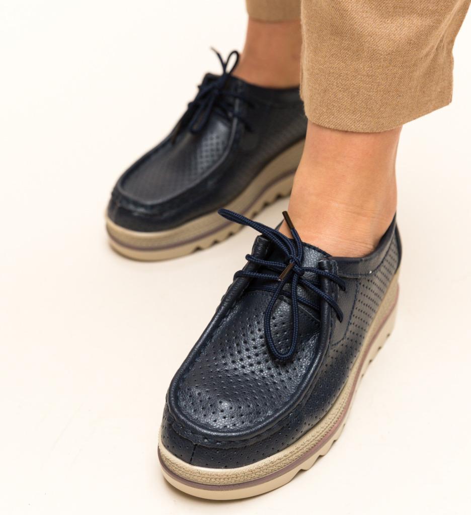 Pantofi Casual Torino Bleumarin