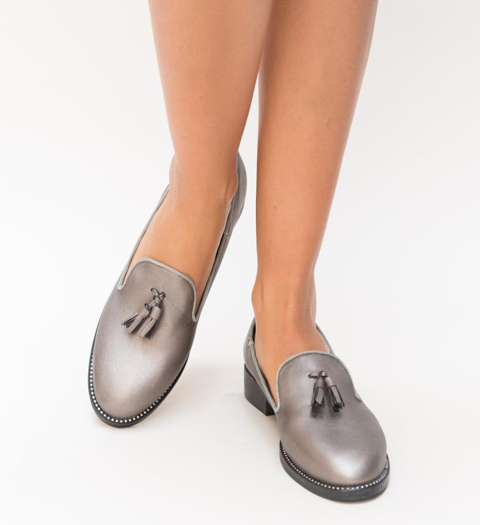 Pantofi Casual Velina Gri