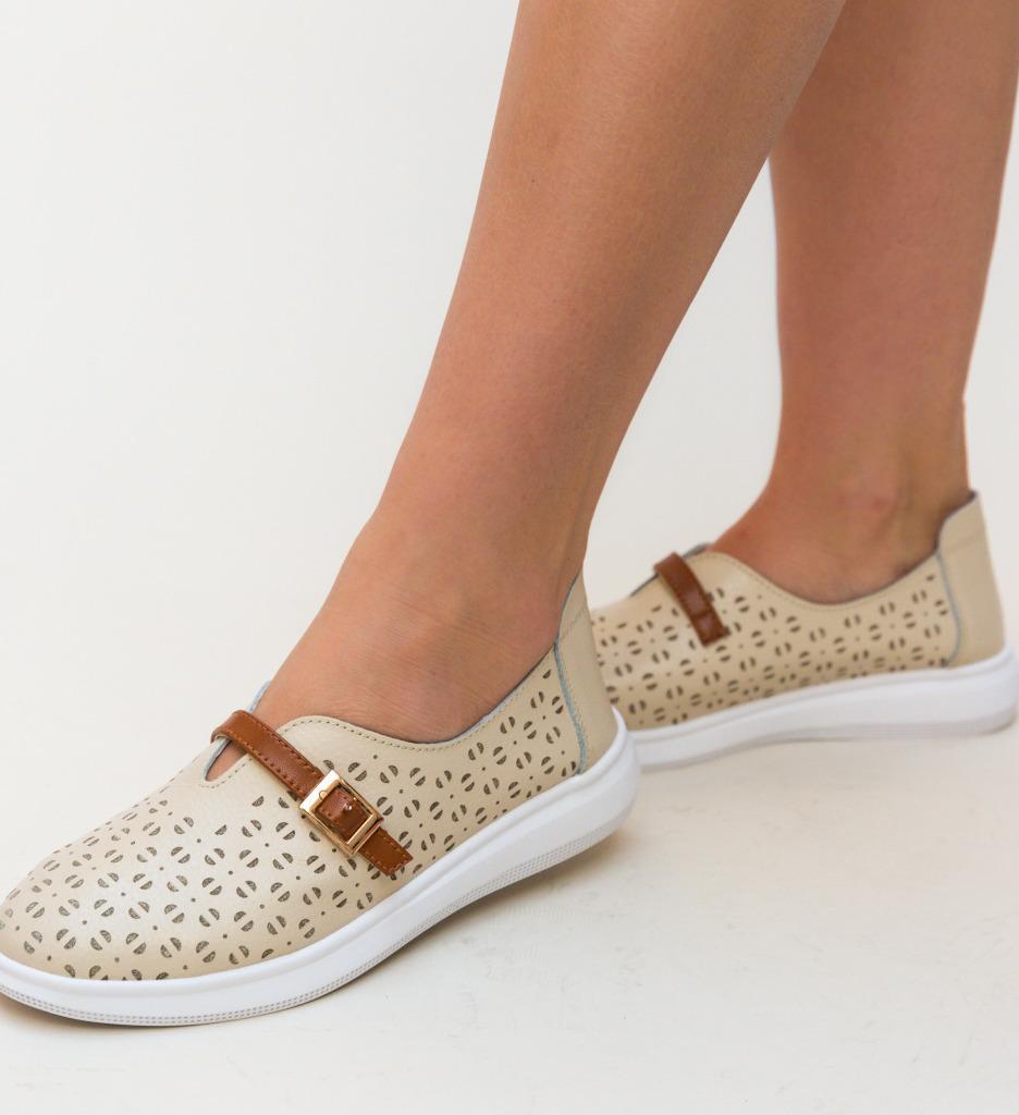 Pantofi Casual Vicez Bej