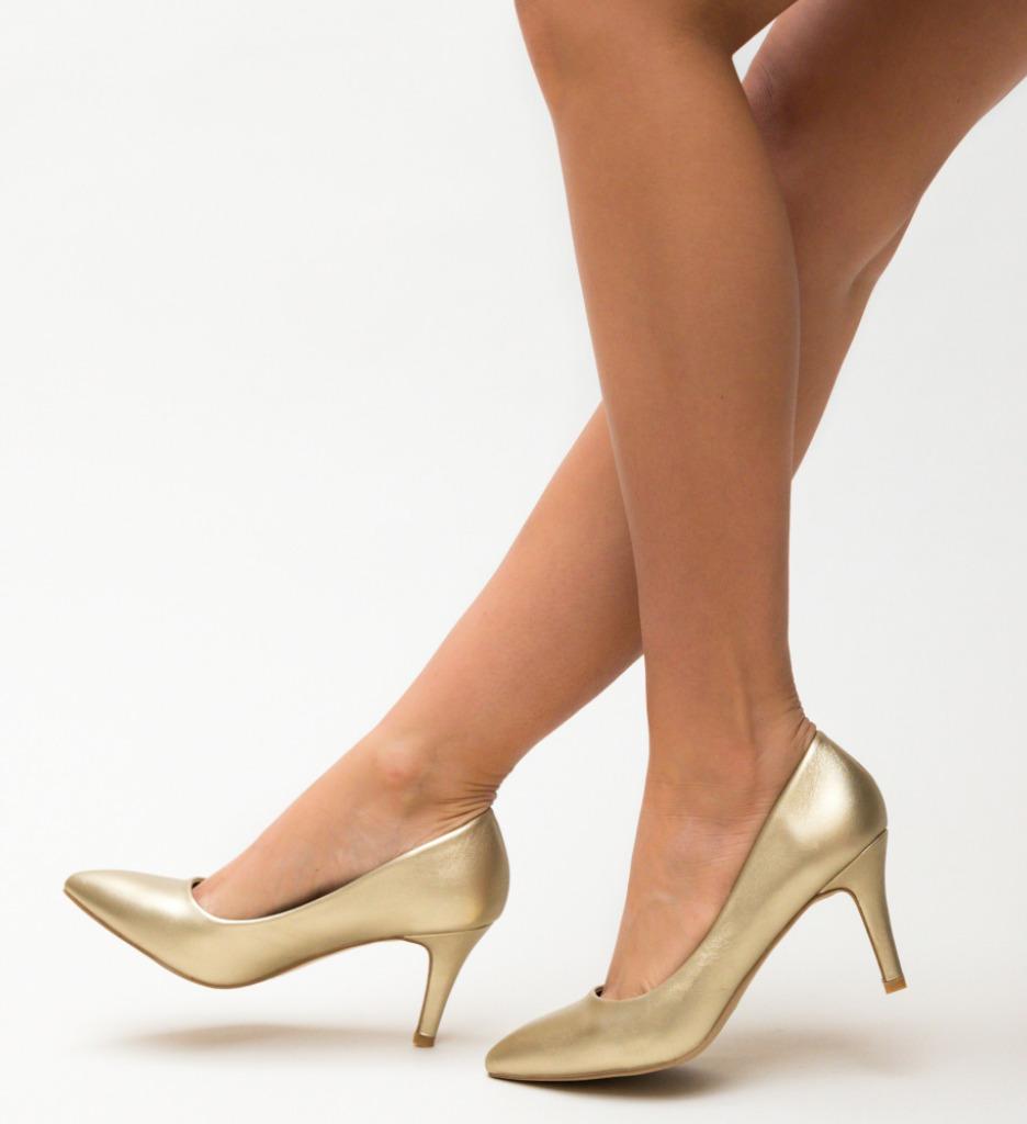 Pantofi Cheloo Aurii imagine 2021